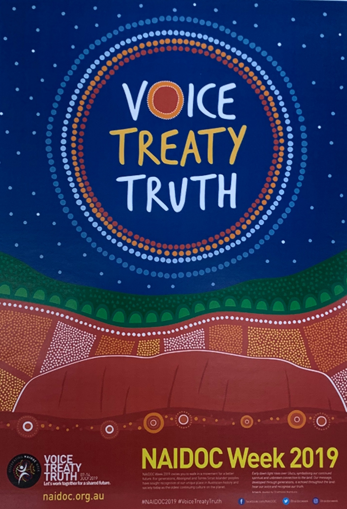 Giving Voice, Telling Truth, Talking Treaty: NAIDOC 2019