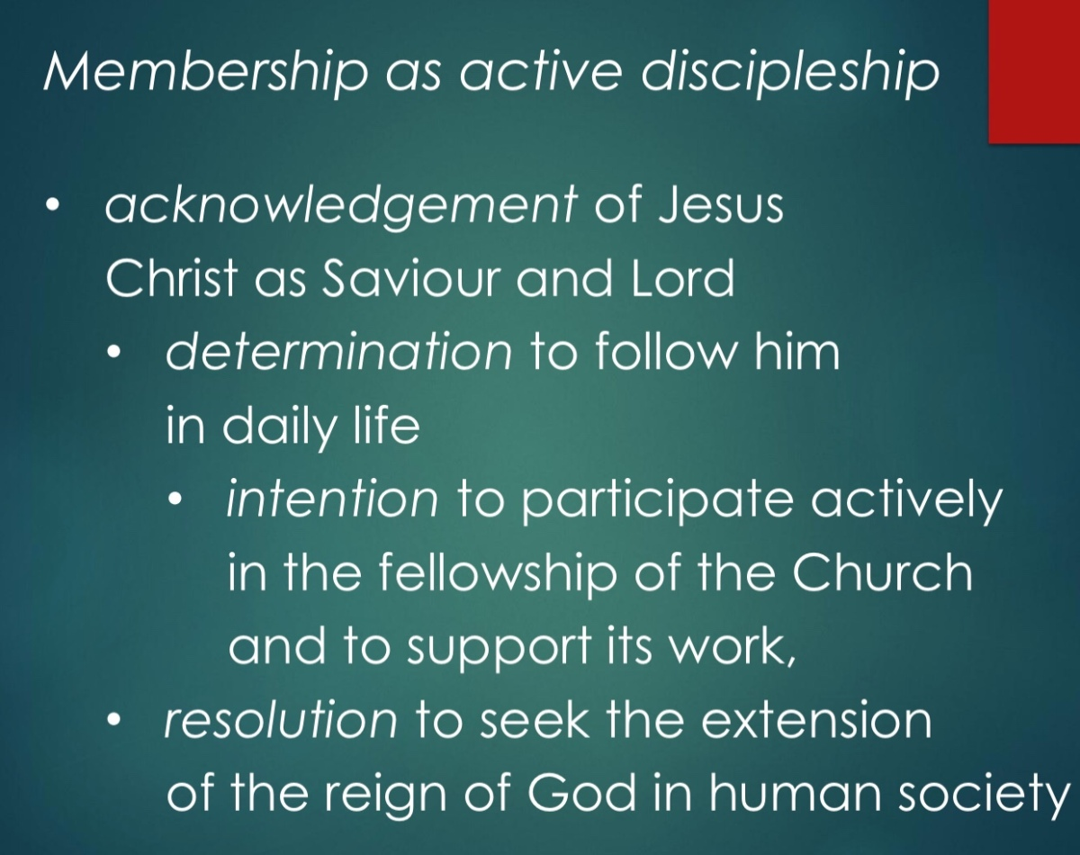 Gracious openness and active discipleship as key characteristics of church membership