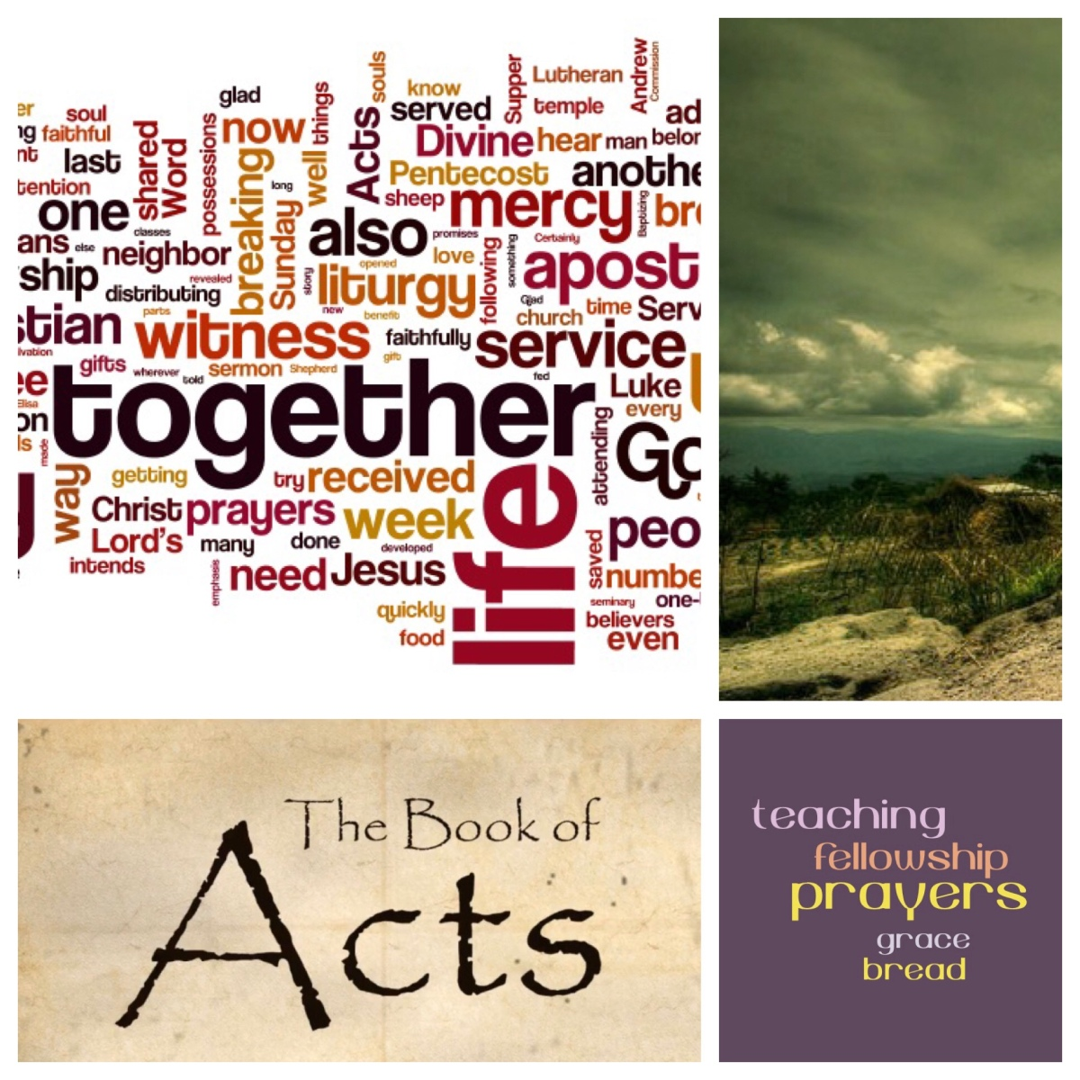Teaching, fellowship, bread and prayers: the marks of community (Acts 2)