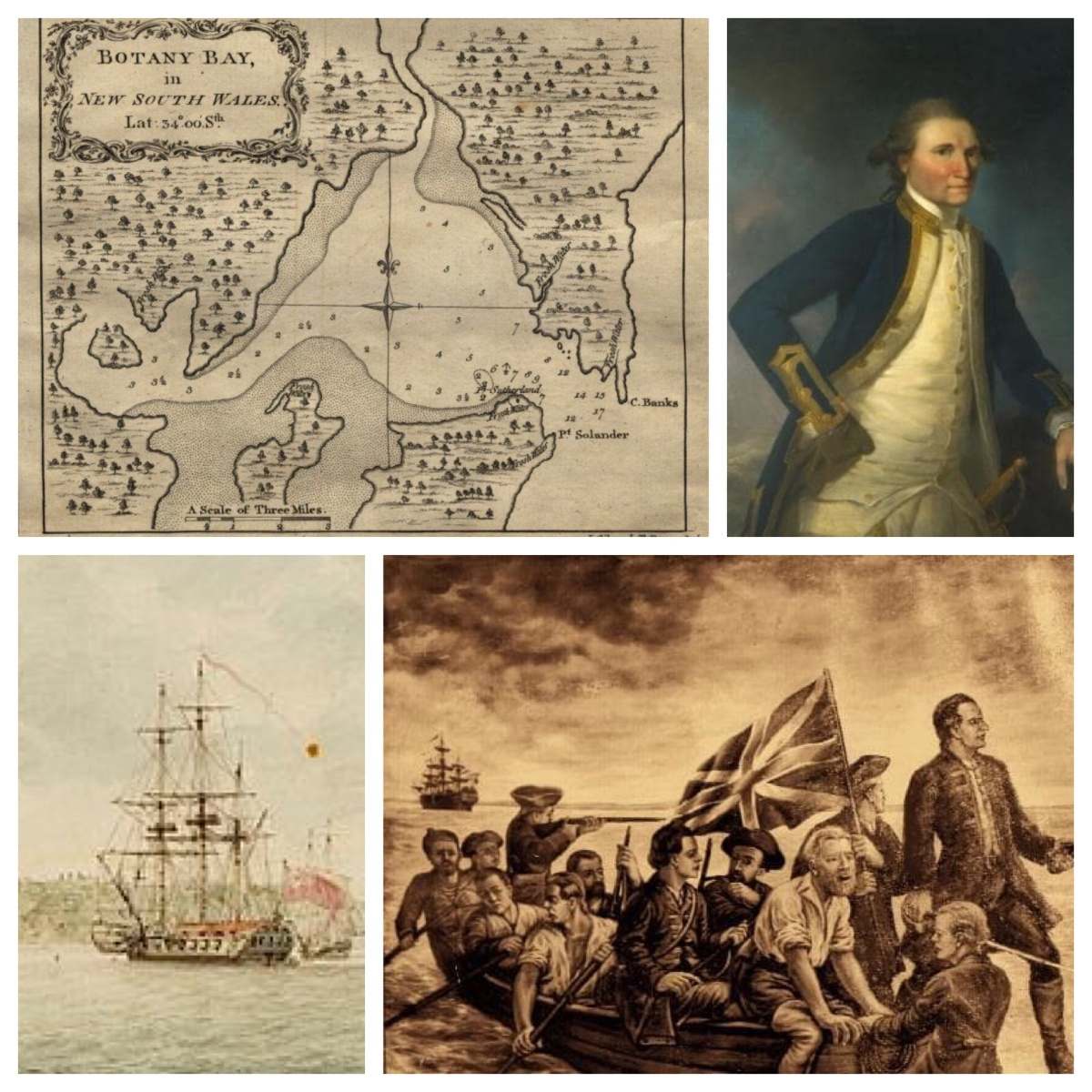 """Three canoes lay upon the beach—the worst I think I ever saw."" James Cook at Botany Bay, 29 April 1770"