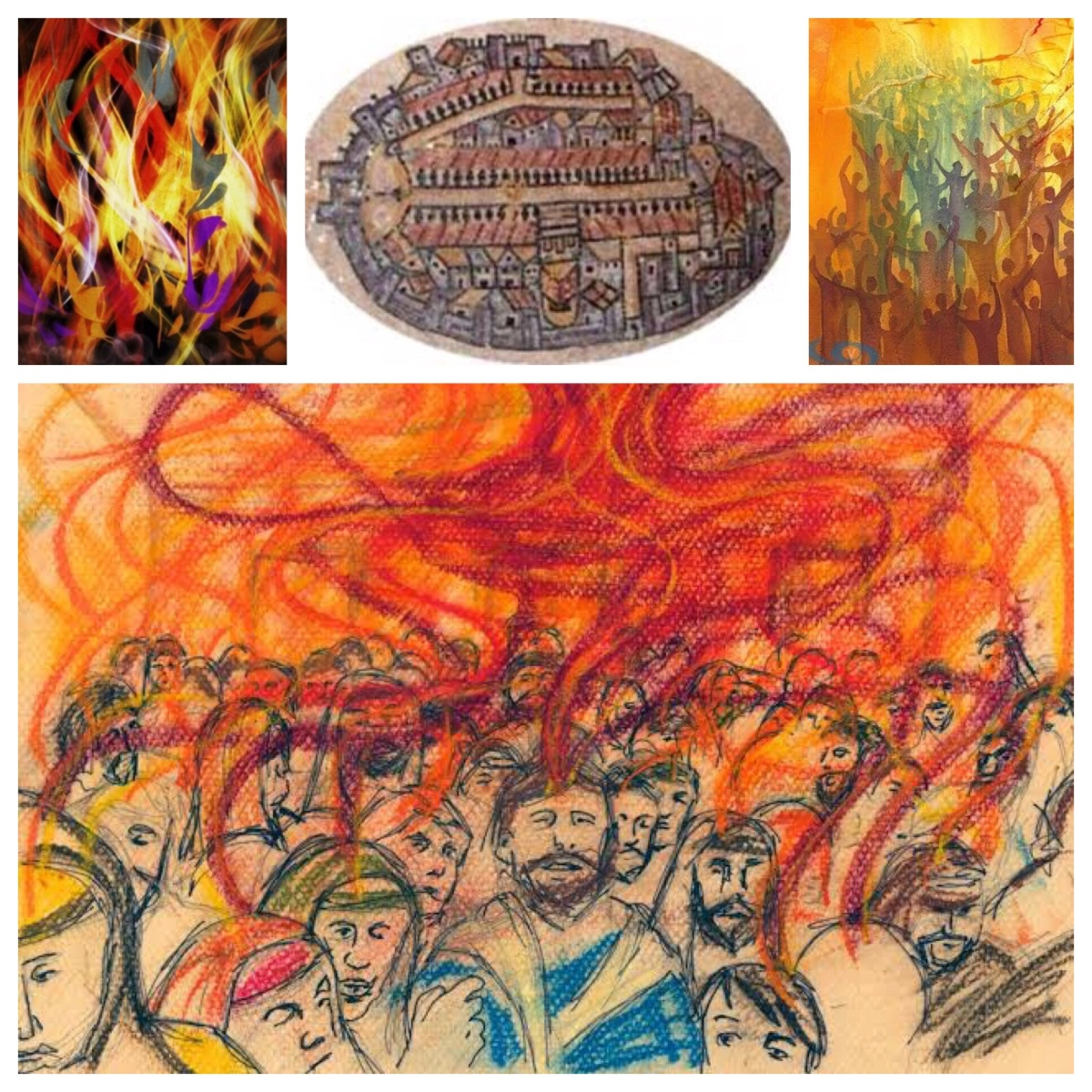 What does this mean? Wind and fire, tongues in the temple, on Pentecost Sunday (Acts 2)