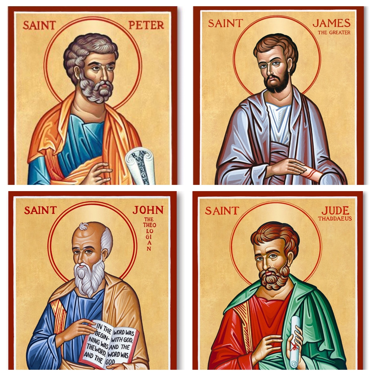 What do we know about who wrote the letters in the name of the apostles? (4)