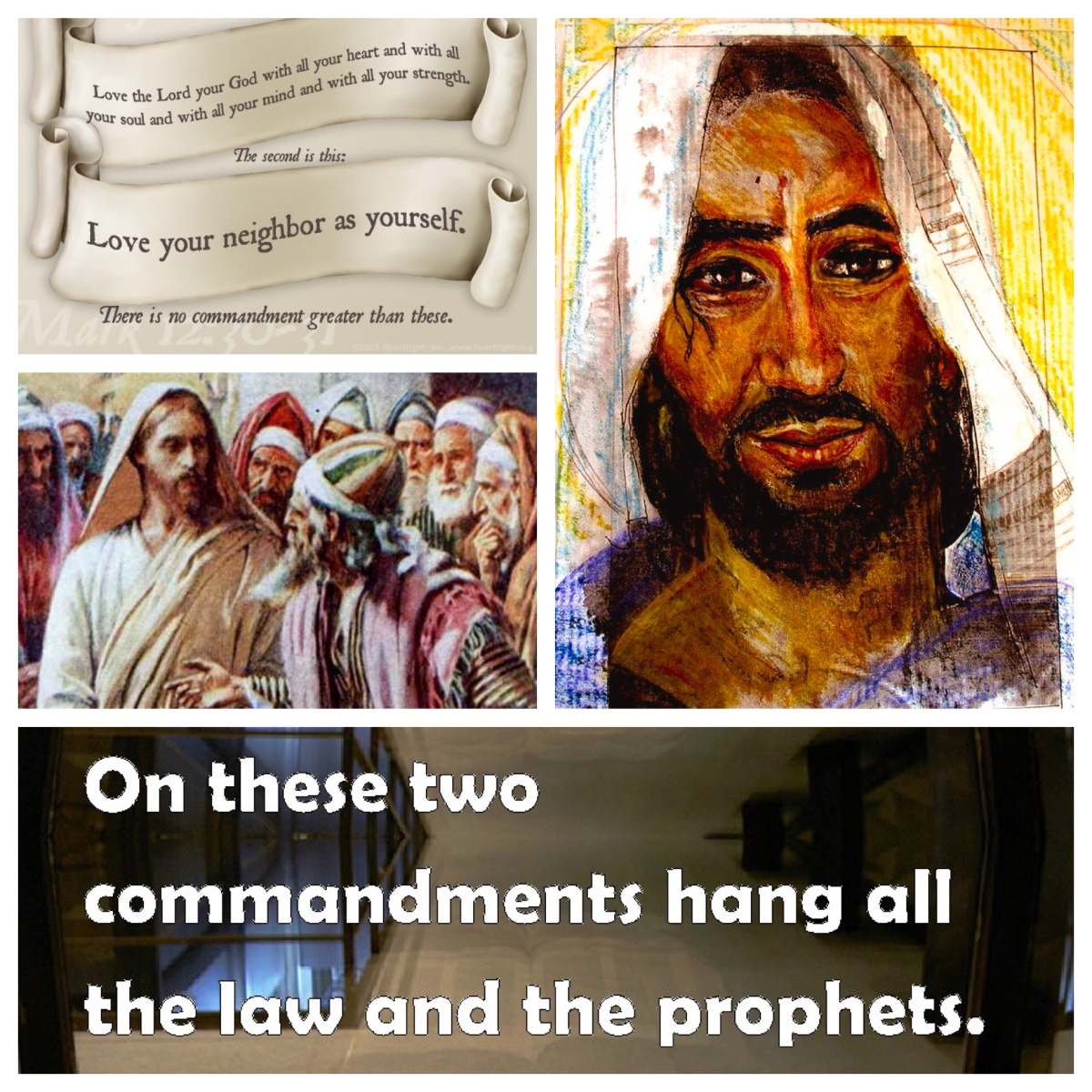 On these two commandments hang all the law and the prophets (Matt 22)