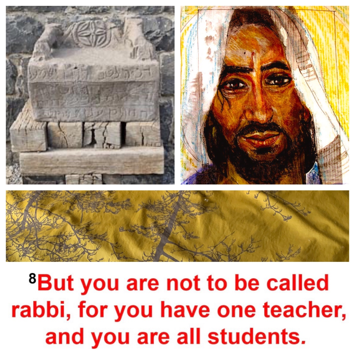 "Sitting on the seat of Moses, teaching the Law—but ""they do not practice what they teach"" (Matt 23)"