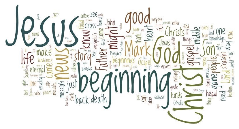 The beginning of the good news of Jesus the chosenone