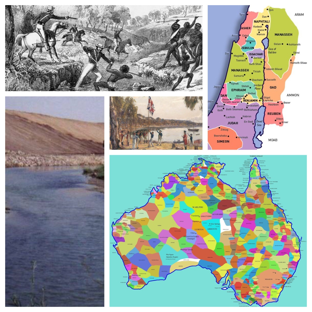 Invasion and colonisation, Joshua 3 and contemporary Australia