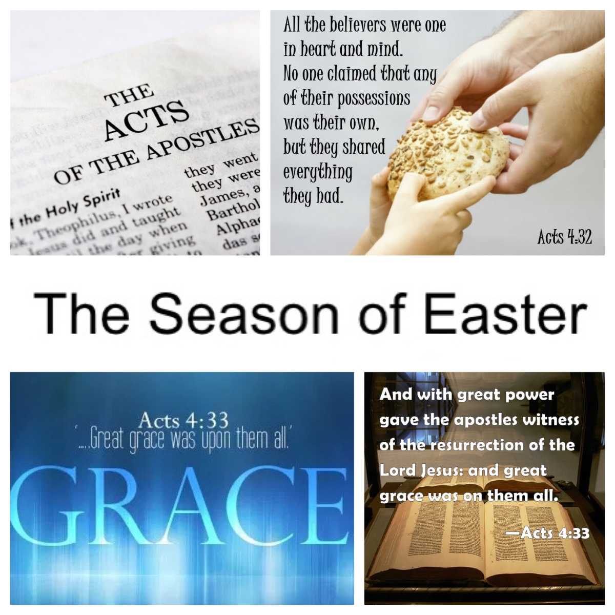 The church in Acts: Easter 2 (Acts 4). Unity, testimony, and grace.