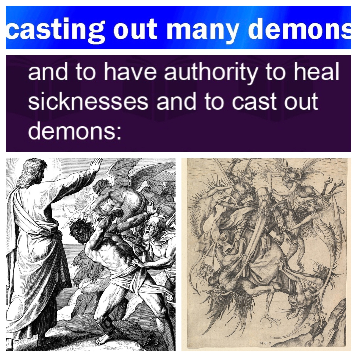 Casting out demons (Mark 6; Pentecost6B)