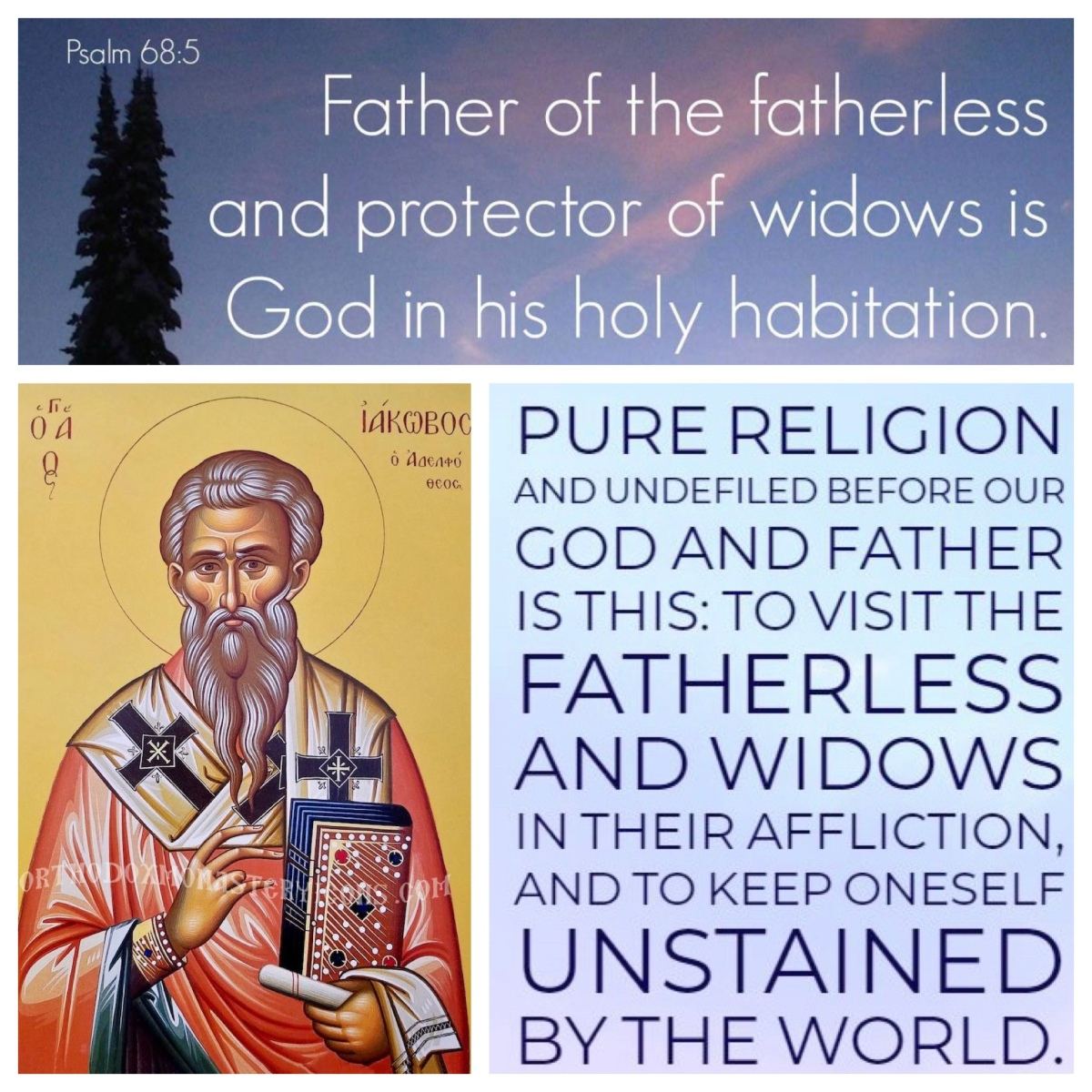 On care for orphans and widows (James 1; Pentecost14B)