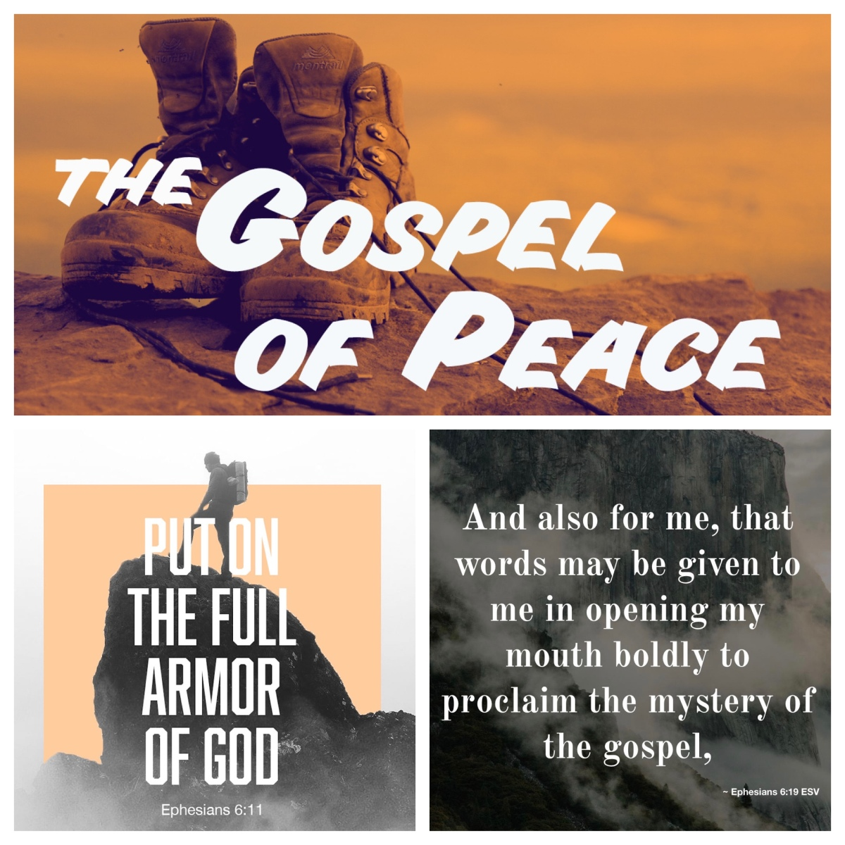 Declare boldly the gospel of peace, put on the armour of God (Ephesians 6; Pentecost13B)