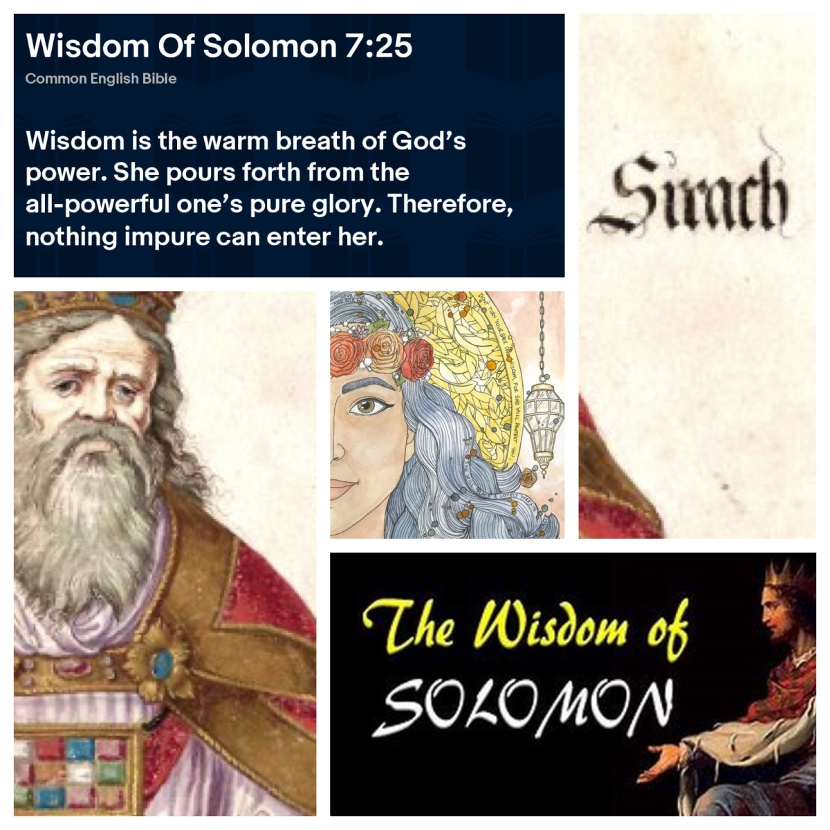 Wisdom cries in the streets (Proverbs 1; Pentecost16B)