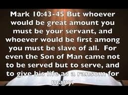Not to be served, but to serve: the model provided by Jesus (Mark 10; Pentecost21B)